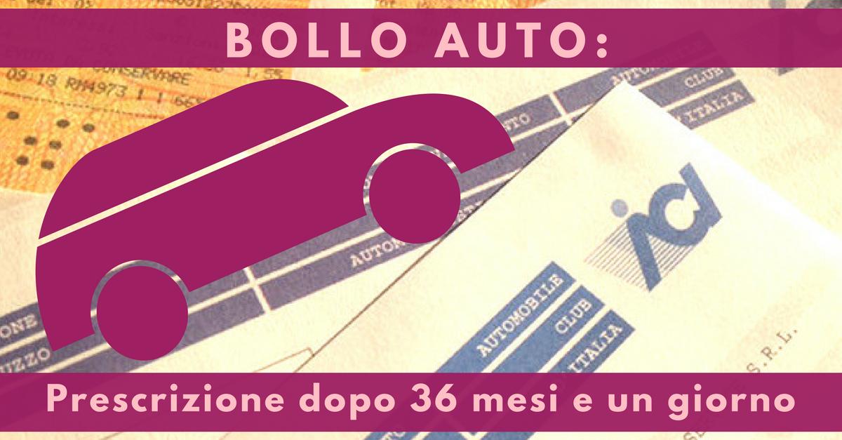 BOLLO AUTO: NON PIU' DOVUTO DOPO 3  ANNI